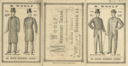 Advert For M. Woolf, Tailors(014EVA000000000U08083000)